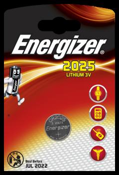 Energizer Lithium Knopfzelle 3V CR2025 Blister 1