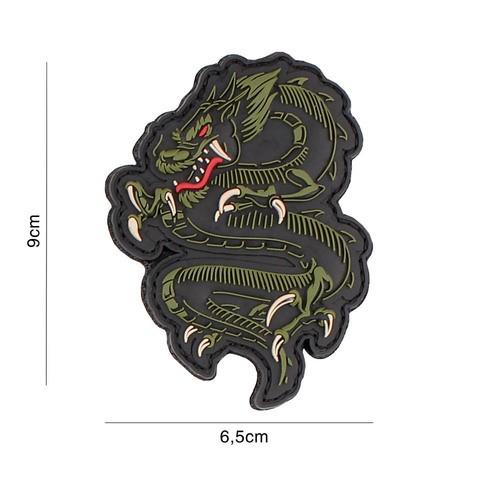 PATCH 3D PVC DRAGON GREEN