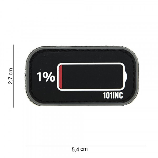Patch 3D PVC Low power black/grey