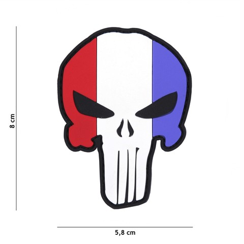 Patch 3D PVC crazy Punisher