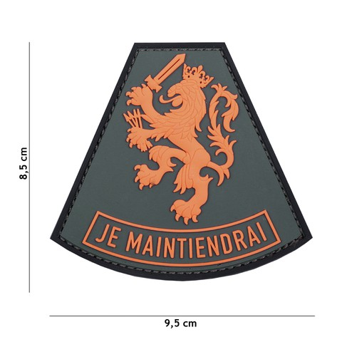 Patch 3D PVC Je Maintiendrai orange