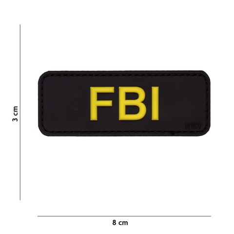 Patch 3D PVC FBI black