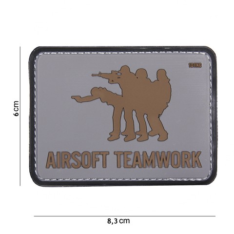 Patch Airsoft Teamwork grey