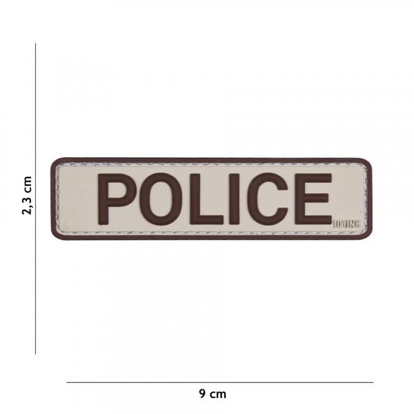 Patch 3D PVC Police sand