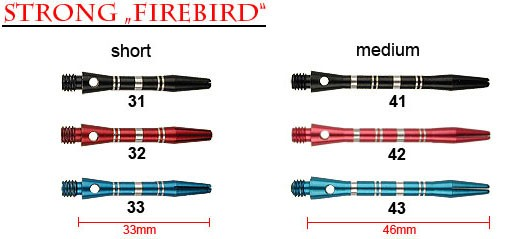 STRONG Firebird medium blau 46mm