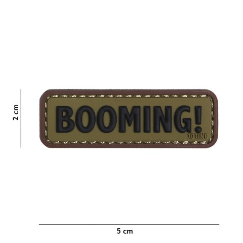 Patch 3D PVC Booming! green/brown