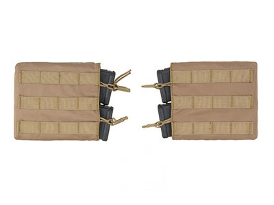 Horizontal Double M4/M16/AR-15 Mag Pouch Set - Coyote