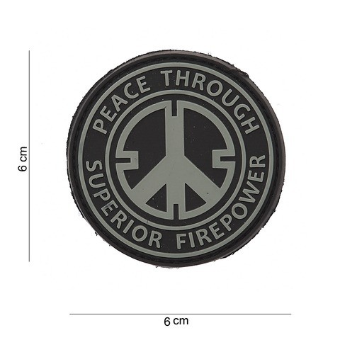 PATCH PVC PEACE THROUGH SUPERIOR FIRE POWER