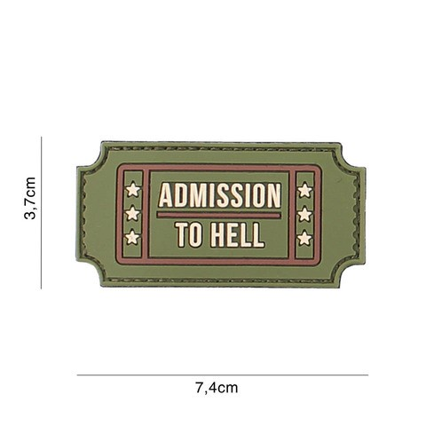 PATCH 3D PVC ADMISSION TO HELL MULTI