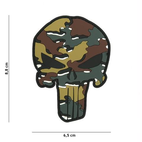 Patch 3D PVC Punisher Belgian camo