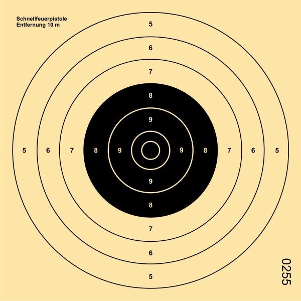 Schnellfeuer-Pistolenscheibe