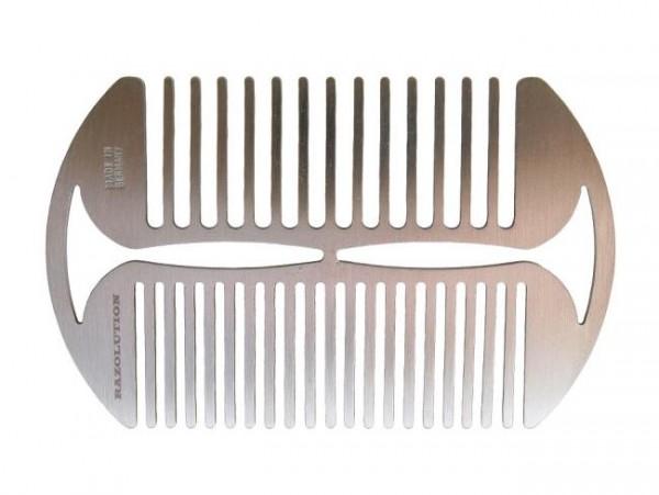 Bartkamm aus rostfreiem Edelstahl - Made in Germany