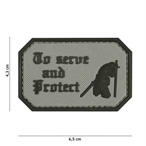 Patch 3D PVC To serve and protect grey