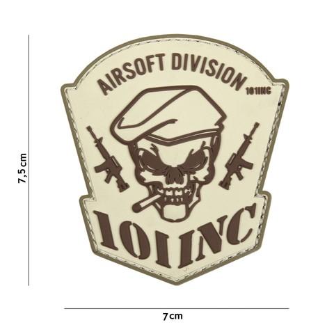 Patch 3D PVC Airsoft Division 101 INC sand