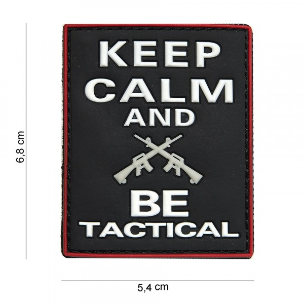 Patch 3D PVC Keep calm and BE tactical black