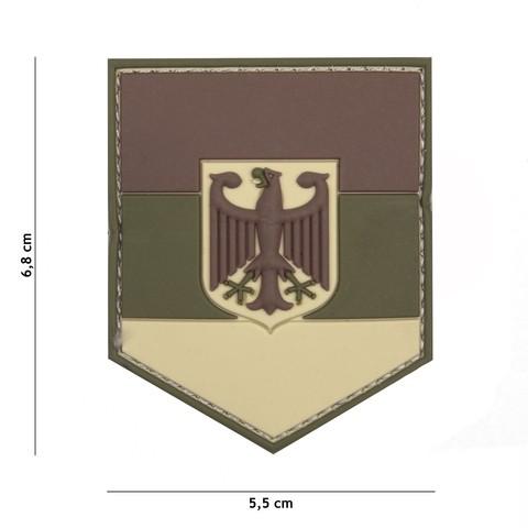 Patch 3D PVC German shield multi