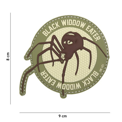 Patch 3D PVC Black widdow eater coyote