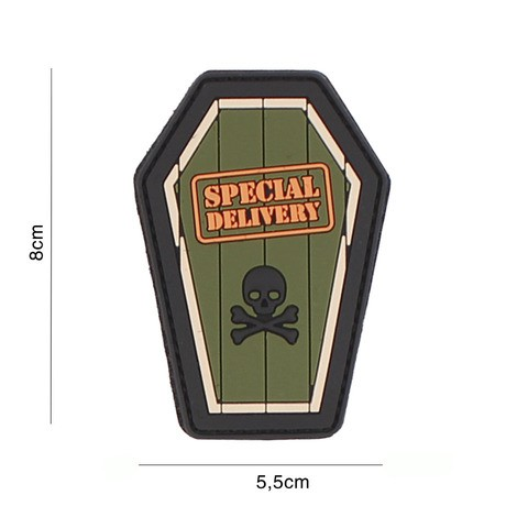 PATCH 3D PVC SPECIAL DELIVERY GREEN