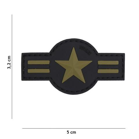 Patch 3D PVC U.S. Air Force green