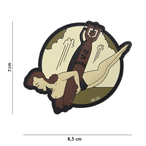 PATCH 3D PVC V-2 BITCH BROWN