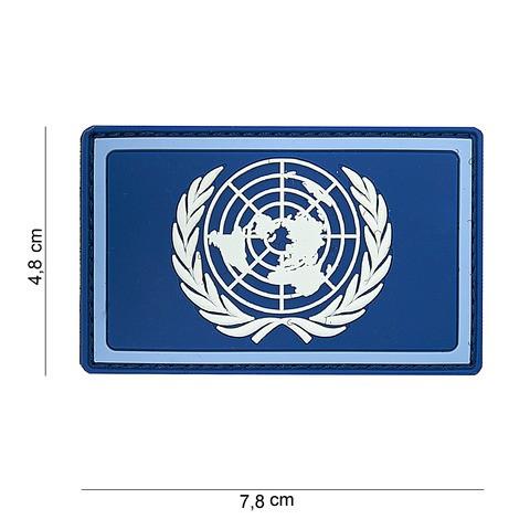 Patch 3D PVC UN blue