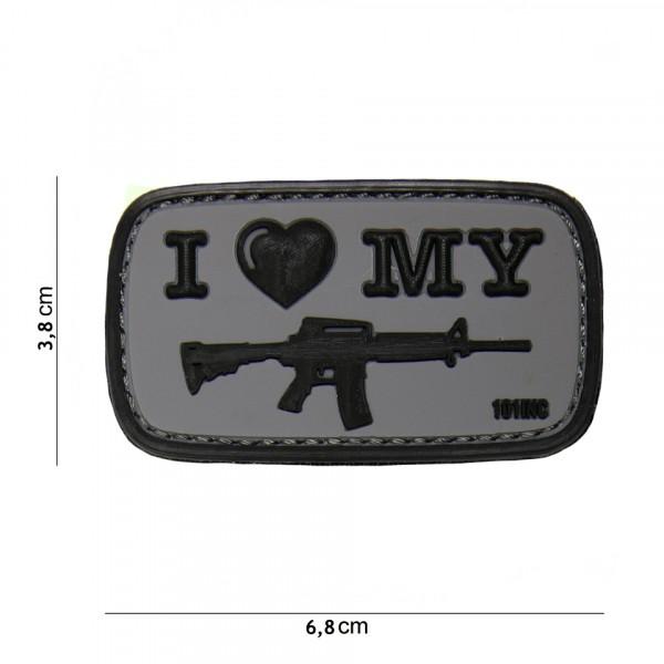 Patch I love M4 black