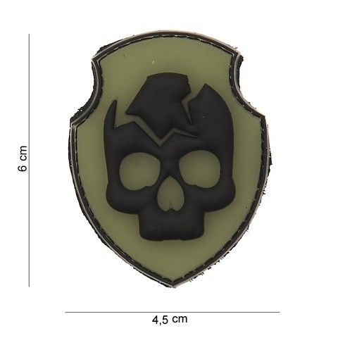 Patch 3D PVC Ghost Skull