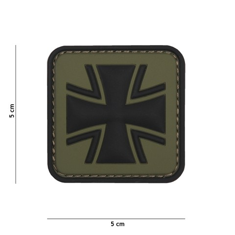 Patch 3D PVC German cross green