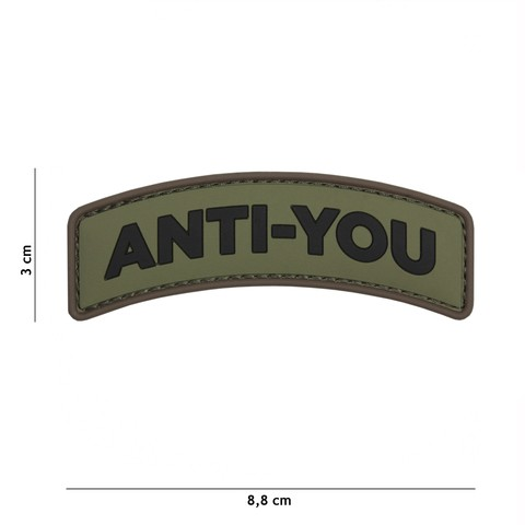 Patch 3D PVC Anti-You green