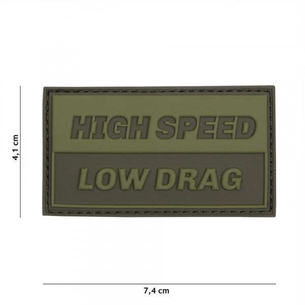 Patch 3D PVC High speed green