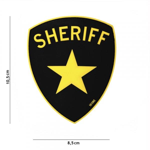 Patch 3D PVC Sheriff yellow