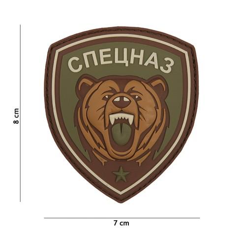 Patch 3D PVC Spetsnaz bear green