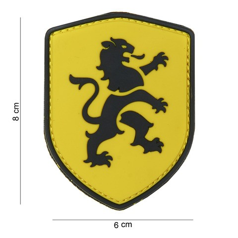 Patch 3D PVC lion yellow