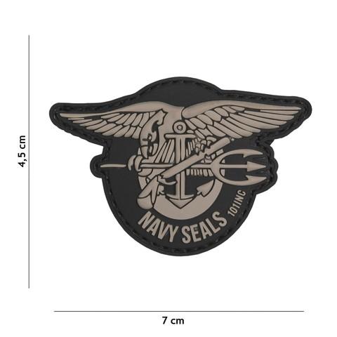 Patch 3D PVC Navy seals grey