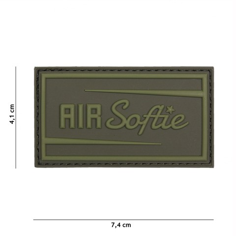 Patch 3D PVC Air Softie green
