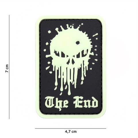 Patch 3D PVC Skull the end glow in the dark