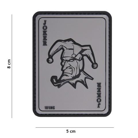 Patch 3D PVC Joker grey