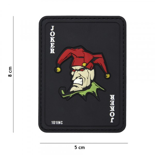 Patch 3D PVC Joker black