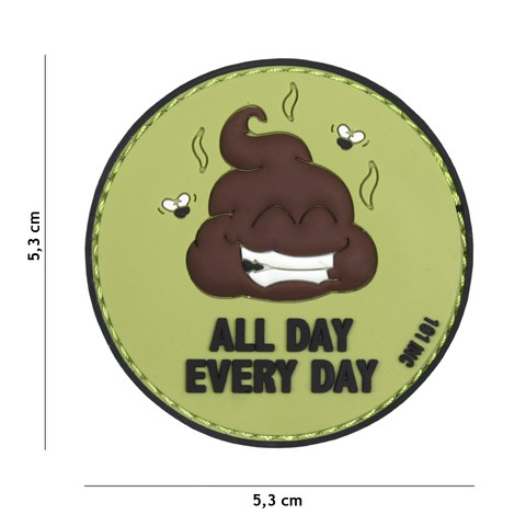 Patch 3D PVC All Day Every Day green/black