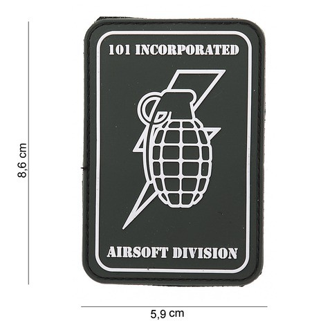 PATCH 3D PVC 101 INC HANDGRENADE