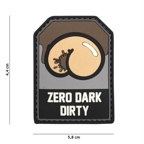 Patch 3D PVC Zero Dark Dirty black/grey