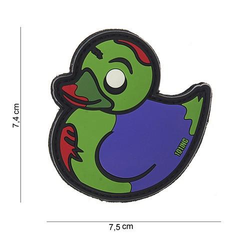 Patch 3D PVC Zombie Duck green/purple