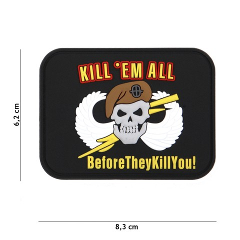 Patch 3D PVC Kill 'em All