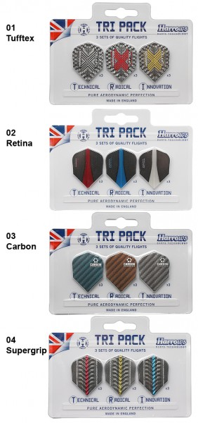 HARROWS Tri Pack Flights Retina
