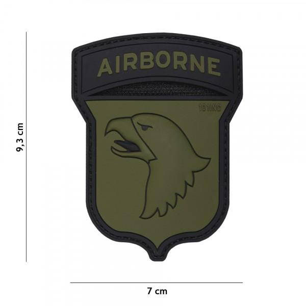 Patch 3D PVC Airborne 101st green