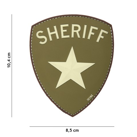 Patch 3D PVC Sheriff green