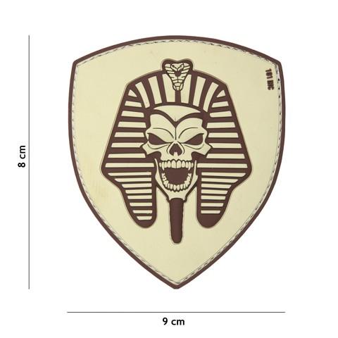 Patch 3D PVC Pharaoh skull sand