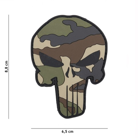Patch 3D PVC Punisher French camo