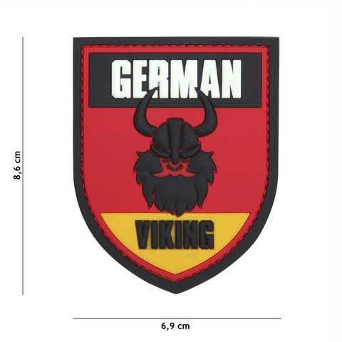 Patch 3D PVC German Viking red