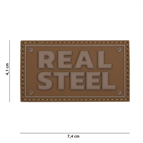 Patch 3D PVC Real steel coyote